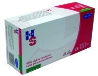 HANDSAFE PP LATEX GLOVES L PK100 NATURAL
