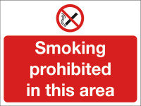 SMOKING PROHIBITED IN 450X600 PVC P35Z/R
