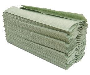 MAXIMA GREEN 1PLY HAND TOWELS GREEN PK20