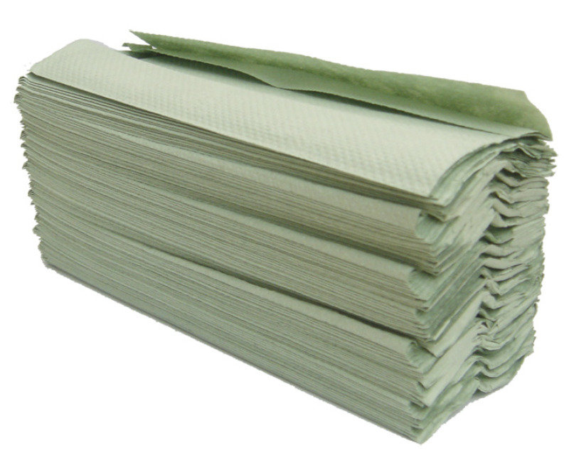 Image of MAXIMA GREEN 1PLY HAND TOWELS GREEN PK20