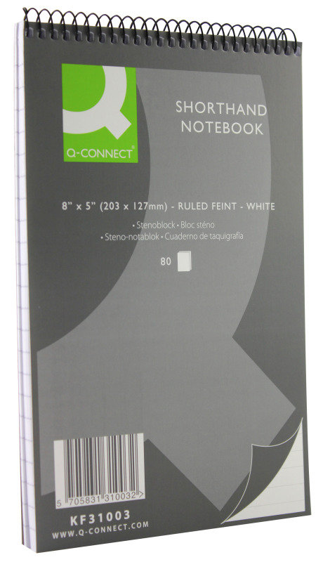 Q Connect Shorthand Notebook 80lf - 20 Pack
