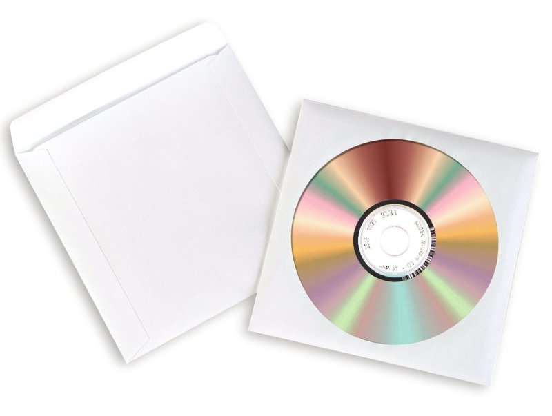 Avery Paper XL White CD/DVD Sleeves - 100 Pack