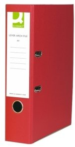 Q Connect L/arch File A4 Polyprop Red - 10 Pack