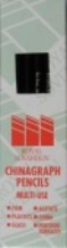 Royal Sov Chinagraph Pencil Black 52563 - 12 Pack