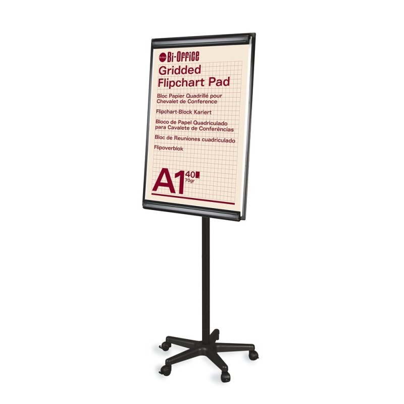 Bi-Office Frameless Mobile Magnetic Flipchart Easel 900x600mm