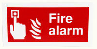 Extra Value 100x200mm Self Adhesive Safety Sign - Fire Alarm