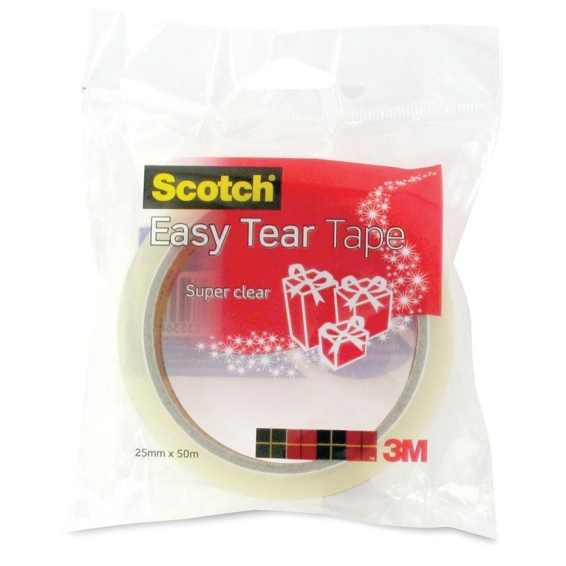 SCOTCH EASY TEAR SGL ROLL EVDAY TAPE CLR