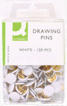 Q CONNECT DRAWING PINS 120PK WHITE PK10