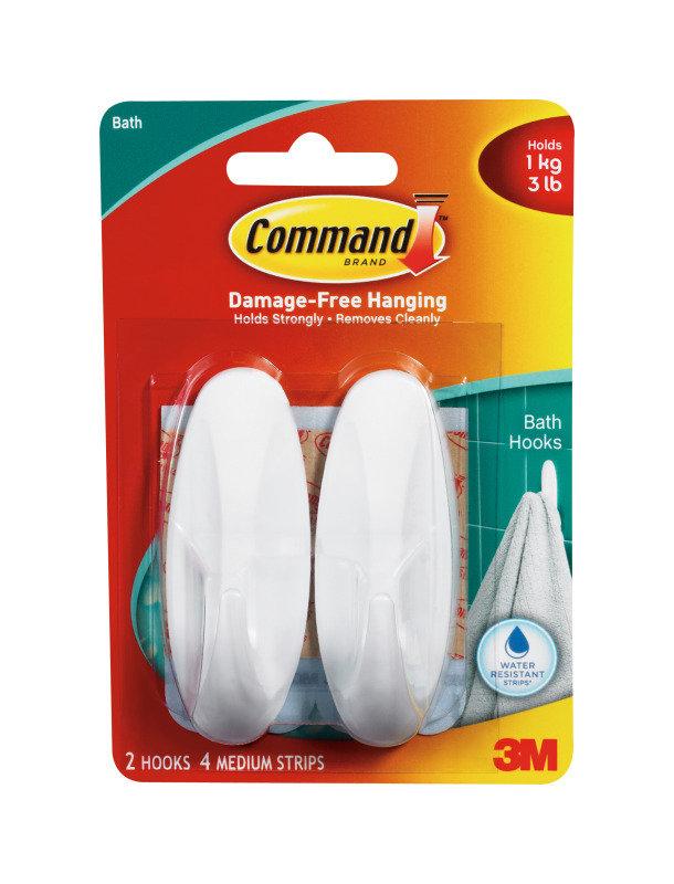 Image of 3m Command Medium Oval Hooks X2 White