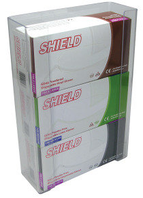 SHIELD TRIPLE GLOVE DISPENSER CLEAR PK2
