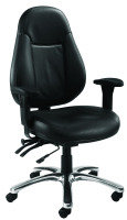 FF AVIOR LEATHER 24 HOUR OP CHAIR BLACK