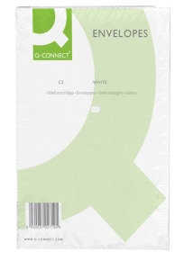 Q Connect 100GSM C5 Plain Peal & Seal White Envelopes - 500 Pack