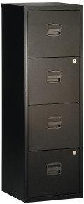 Bisley A4 Personal Filing Cabinet 4 Drawer Black