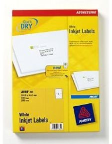 AVERY INK LBL SHP 199.6X143.5 P100 J8168
