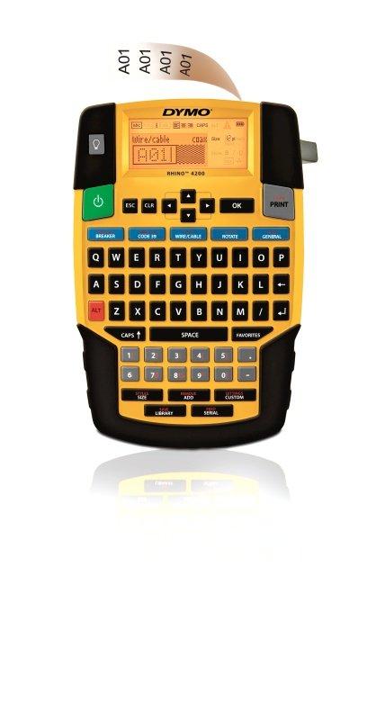 Image of Dymo Rhino 4200 Label Printer Qwerty Keyboard