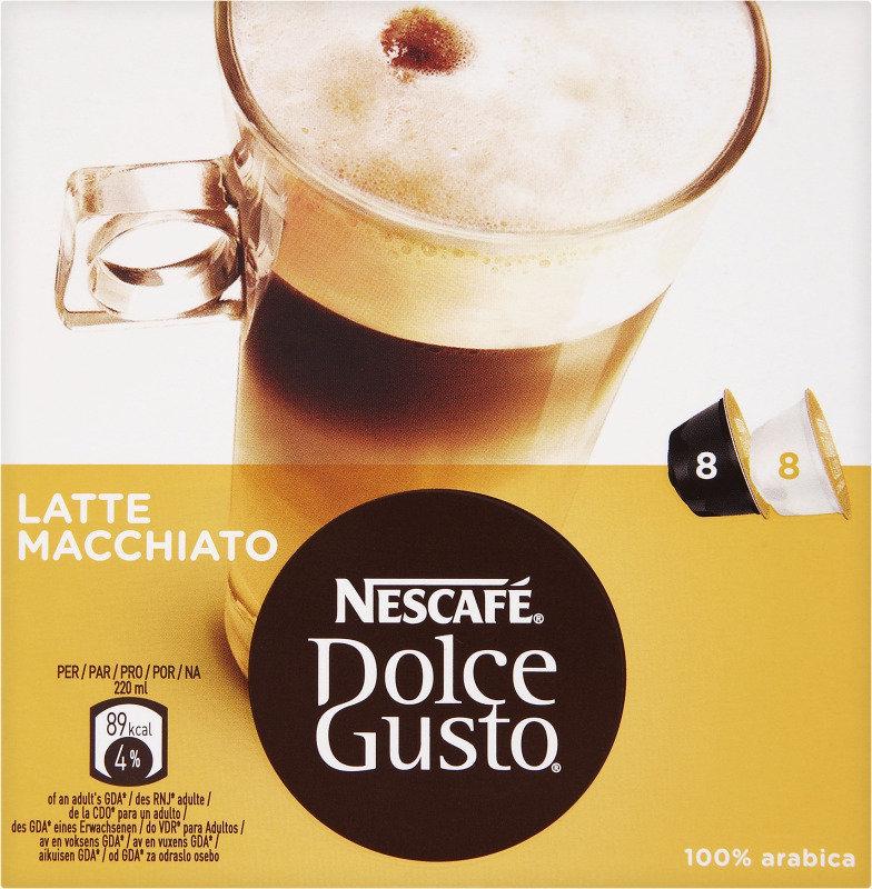 Nescafe Dolce Gusto Latte Macchiato & Creamer - 16 Capsules