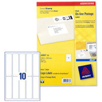 Avery J5103-25 Online Postage Labels 135 x 38mm for SmartStamp (Pack of 250)