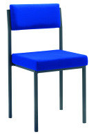 Jemini Upholstered Stacking Chair - Royal Blue