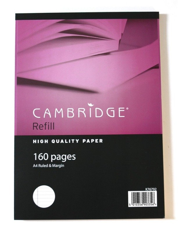 Image of Cambridge A4 Refill Pad Sidebound - 5 Pack