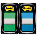 POSTIT 1INCH INDEX DUAL PACK GREEN BLUE