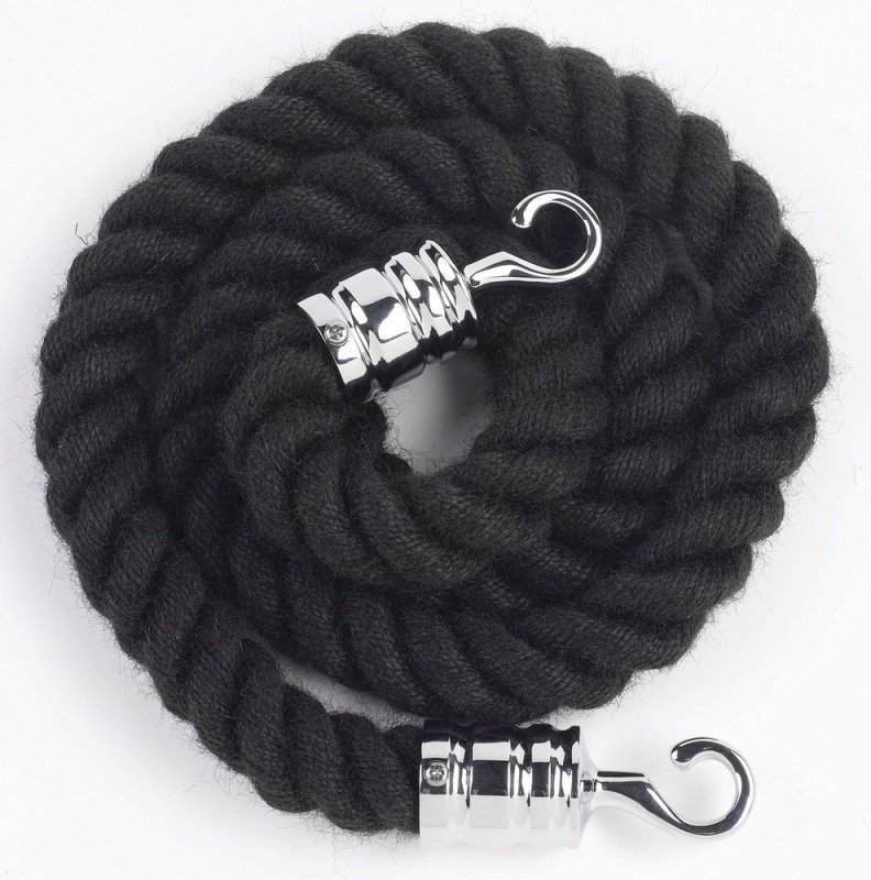 Image of Albion Rope 25mmx150cm Blk Chm Hooks 980