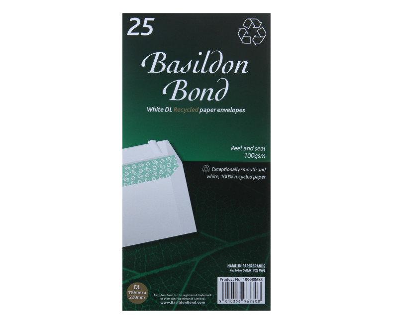 Image of BASILDON BOND PEEL DL WDW WHT WTRMK P500