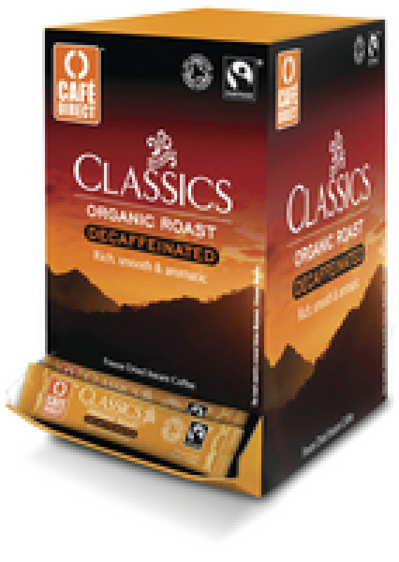 Image of Cafe Direct Fair Trade Decaffeinated Instant One Cup Coffee Sticks - 250 Pack