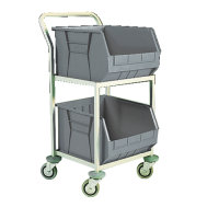 Fd 2 Bin Mobile Storage Trolley 383414