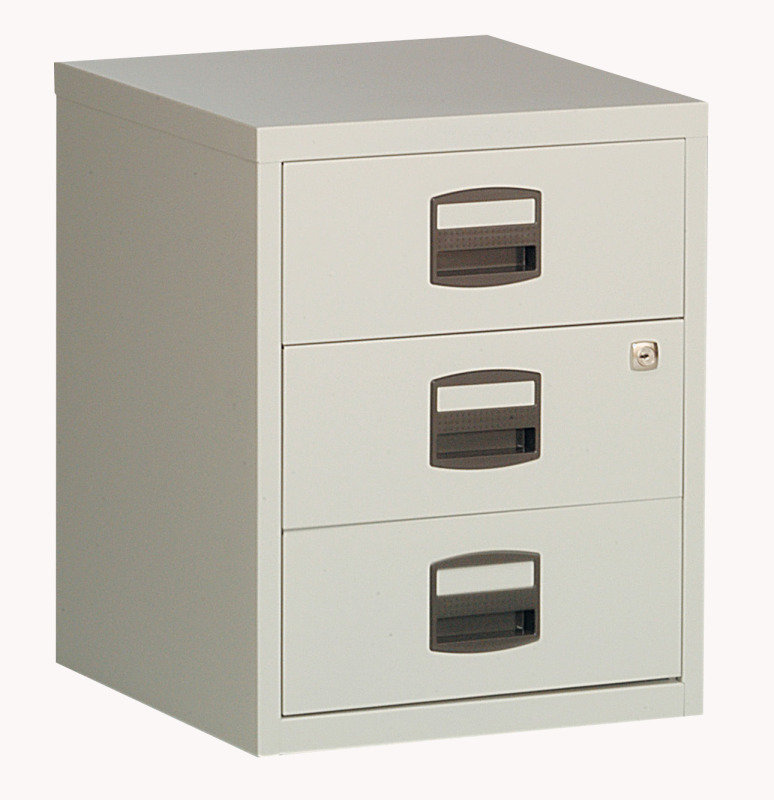 Bisley A4 Mobile Home Filer 3 Drawer Grey