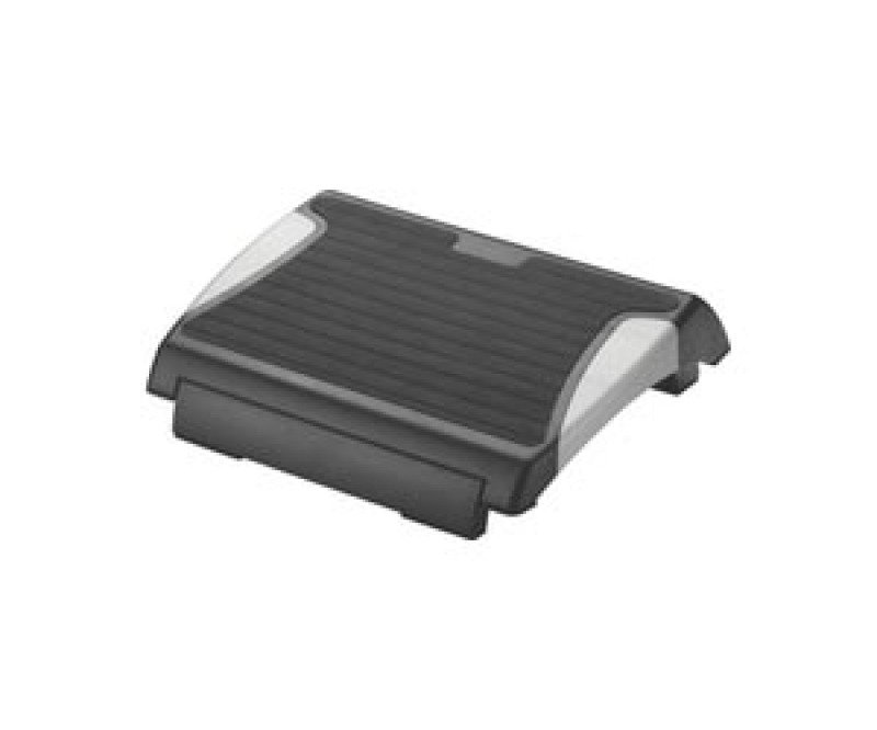 QCONNECT FOOTREST WITH RUBBER BLK/SILV