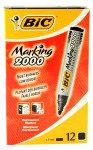 Bic Marker Perm Bullet Tip Black 2000092 - 12 Pack