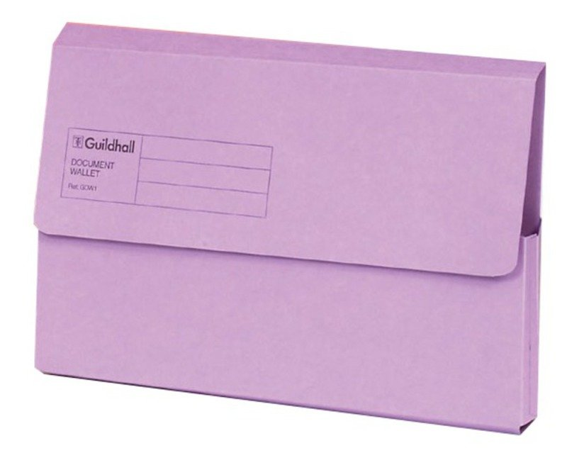 Guildhall Document Wallet Blue Angel Violet - 50 Pack