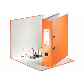 Leitz Wow Lever Arch A4 Folder Orange - 10 Pack