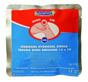 WALLACE BURN DRESSING 10X10 PK10 RED 220