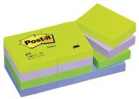 3M POSTIT DREAMY COLOURS PK12 38X51MM