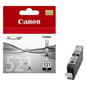 Canon CLI-521BK Photo Black Ink Cartridge - 350 Pages - 2933B001