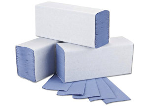 2Work Blue 1-Ply M-Fold Hand Towel (Pack of 3000)