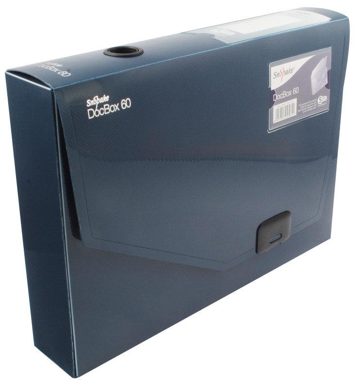 SNOPAKE DOCBOX 60mm A4 BLUE