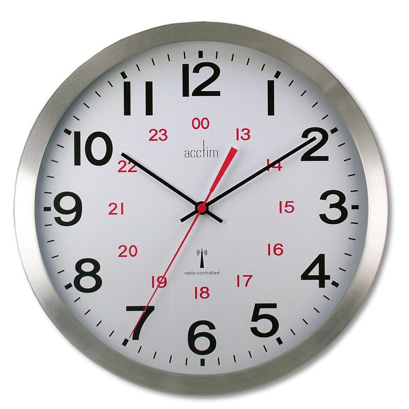 Image of ACCTIM CENTURY RC ALU WALL CLOCK ALUM
