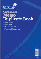 Silvine Carbonless Dupe Memo Book 714 - 3 Pack