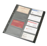 BUSINESS CARD BINDER REF A4 GBC9/R PK5