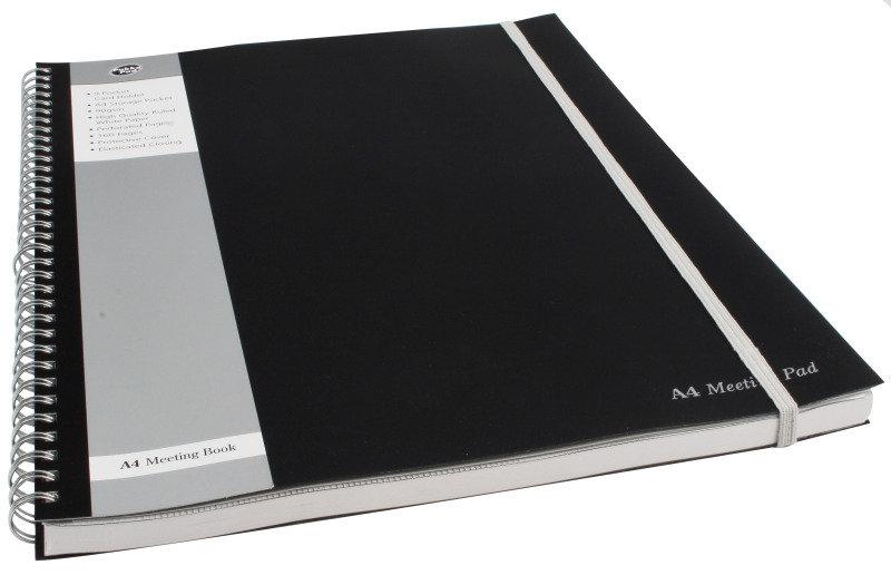 Pukkapad A4 Meeting Pad Black - 3 Pack