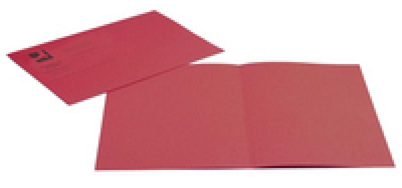 Q Connect Sq Cut Folder Mwt Red - 100 Pack