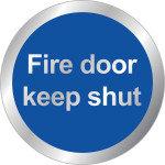SIGNSLAB 76MM FIRE DOOR KEEP SHUT RDS15
