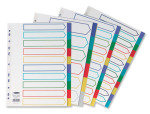 Concord Polypropylene A4  Multicoloured Divider 10 Part