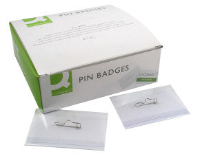 Q CONNECT PIN BADGE 54 X 90MM PK50