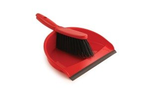 Red Dustpan and Brush Set