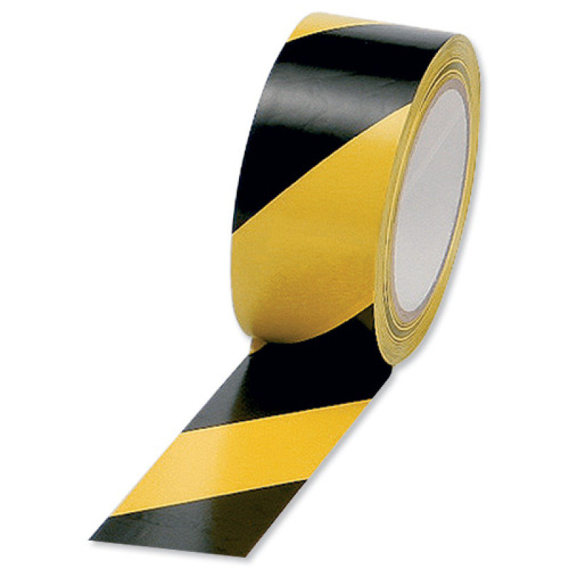 Vinyl Tape Hazard Yellow/black - 6 Pack