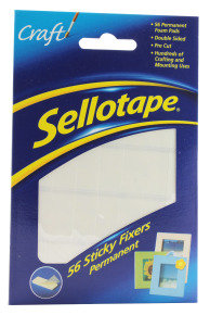 Sellotape Sticky Fixer 12X25mm Adhesive Pads - 56 Pack
