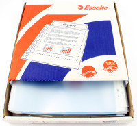 ESSELTE CLEAR EMBOSSED POCKET PK100